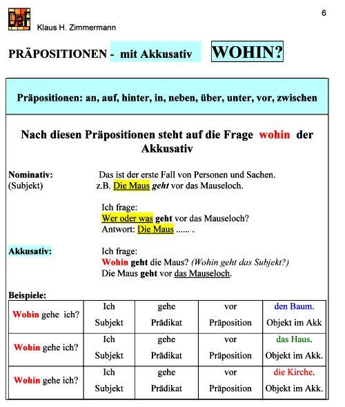 prpositionen ansicht - Praposition Beispiel