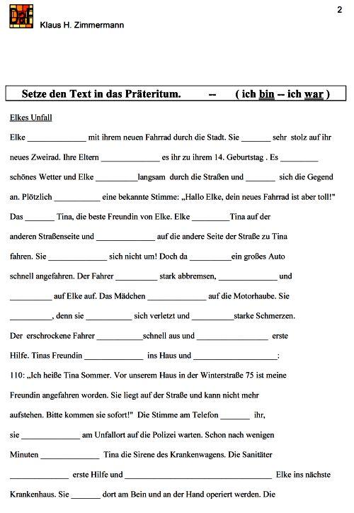 Grammatik 3 klasse ubungen